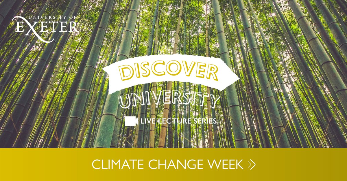 *Next week* is Discover University Climate Change week - a fantastic opportunity for your students to explore research with @UniofExeter academics and interact in live Q&As. Click interested/attending on events to receive updates: https://t.co/mOhOEnVGwx https://t.co/5OUeSoNTA0