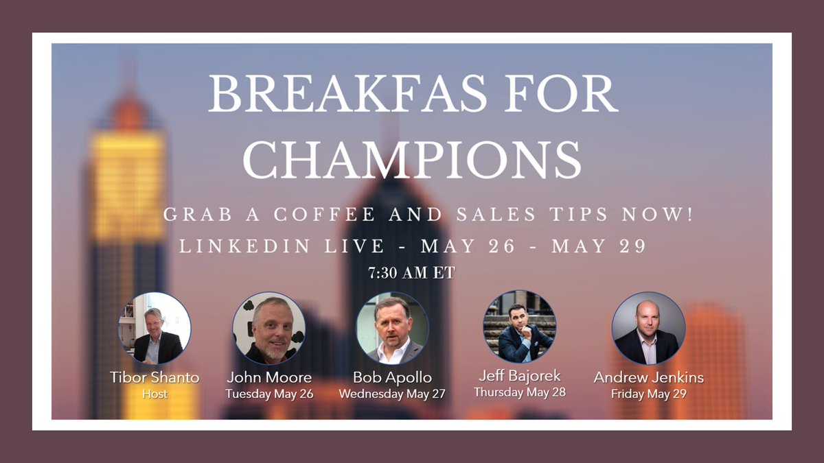 BREAKFAST FOR CHAMPIONS – Andrew Jenkins http://dlvr.it/RXZvKh  @tiborshantopic.twitter.com/69Mk670CT0