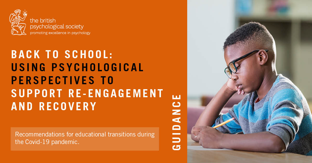 How can #education professionals support children's needs during transition back to school following #COVID19 ? New guidance published by the @BPSOfficial bps.org.uk/sites/www.bps.…