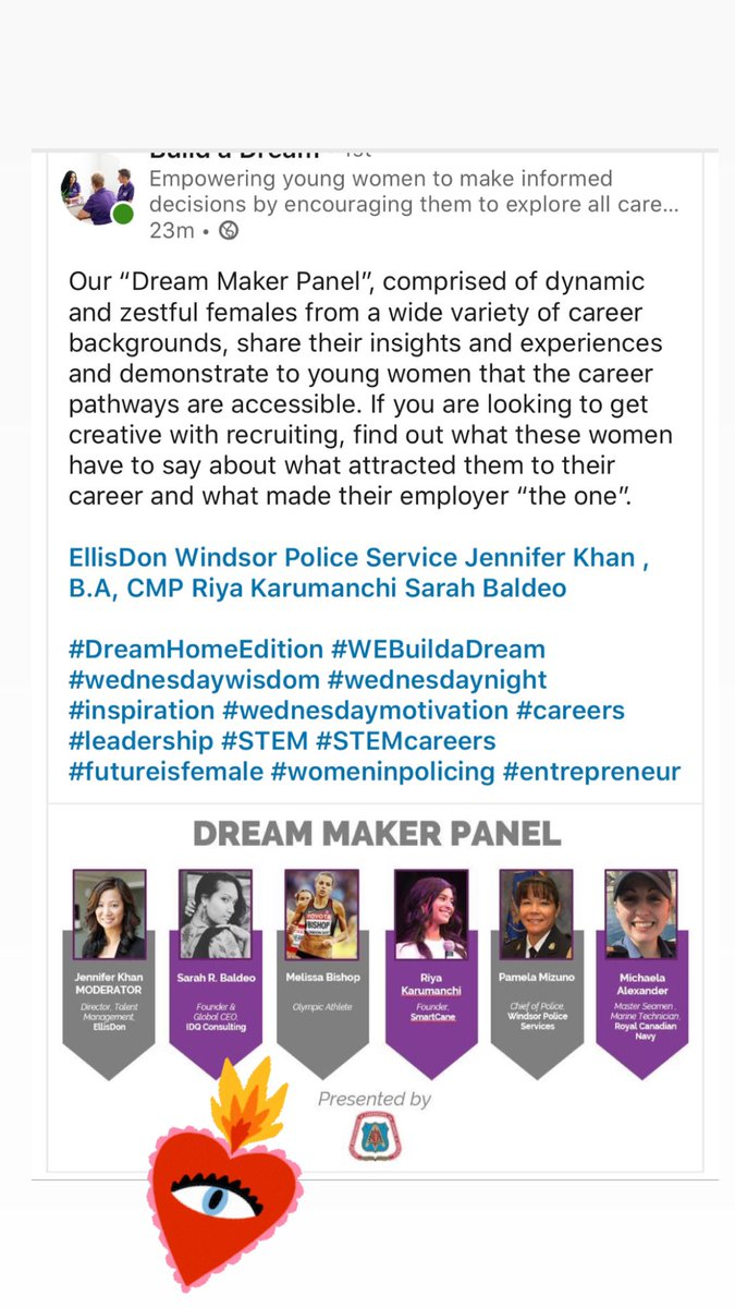 @Build_ADream Awesome Virtual Conference this week - so honoured to have our CEO Sarah Baldeo speak as a panelist on being a Woman in STEM! #buildadream #WomenInSTEM #womenintech #WomeninBusiness #technology #TechNewspic.twitter.com/afrqSiTj0t