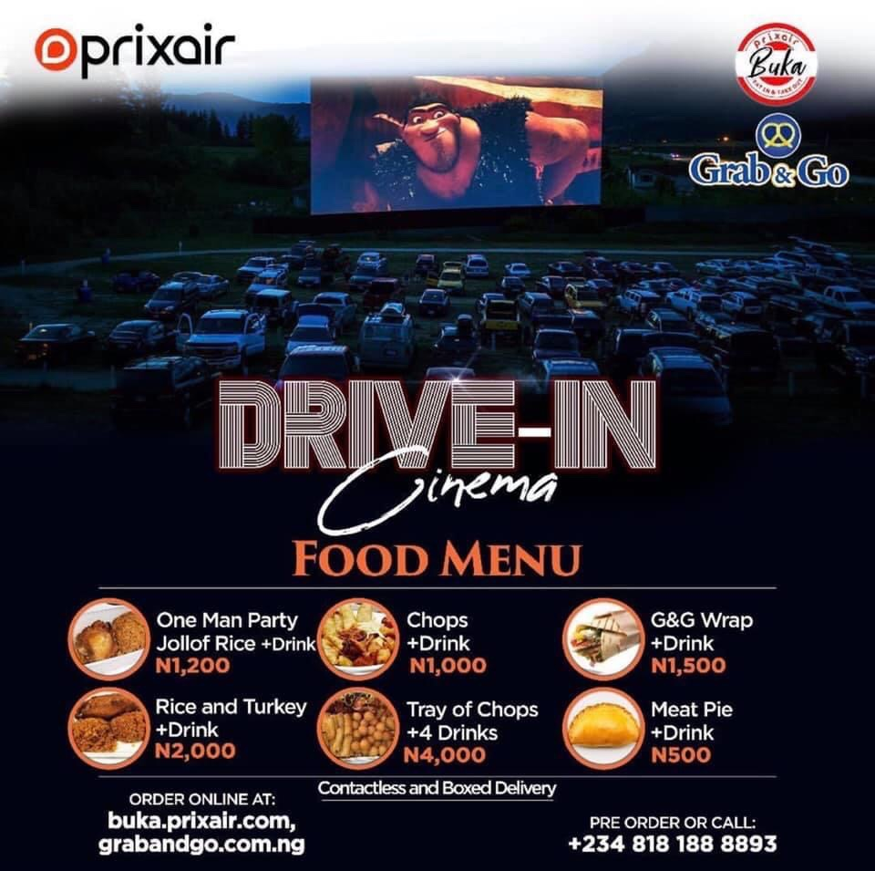 Order your food for tonights #2WeeksInLagos Drive In Cinema showing at the Central Park.   #TheMATTER #drivein pic.twitter.com/9oZaPj1XoR