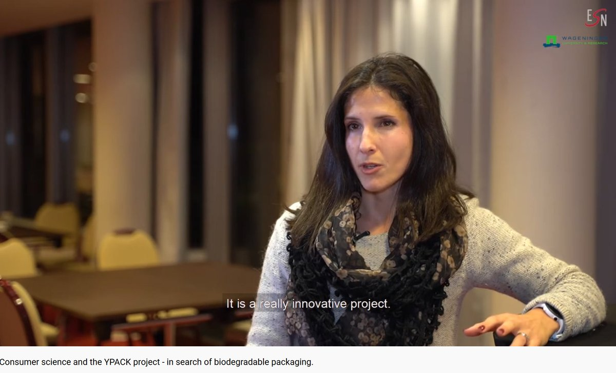 New ESN video out. Betina Piqueras Fiszman from ESN member Wageningen University talks about the role of consumer science in developing biodegradable plastic. https://www.youtube.com/watch?v=R-AD9etCnEc&feature=youtu.be …  #plasticwaste #consumer #science #research #sustainability @WUR #ypack #Europepic.twitter.com/s0yXaHQuN8