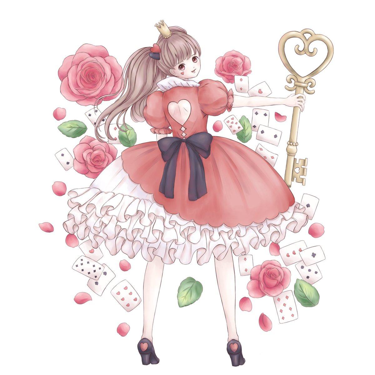 Queen of heart  #初夏の創作クラスタフォロー祭  #イラスト pic.twitter.com/vNDPvf8SJS