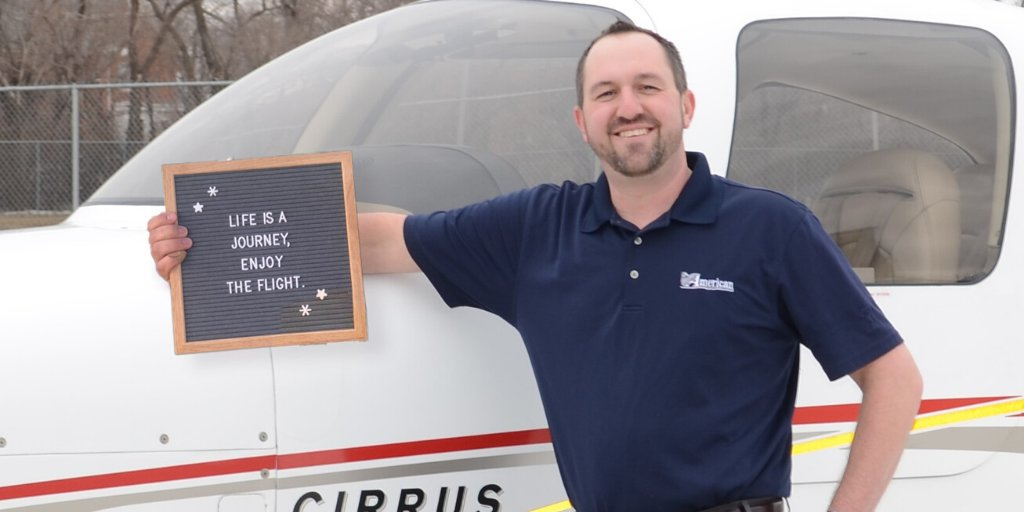 For business banker and pilot Justin, enjoying the journey really does happen through flight! Don't let the sky be your limit ... whatever your dreams are, we're here to help.   #WeAreAmerican #fridayfun #enjoythejourney #fridayvibes #theskiesthelimit #letterboards #airplanes pic.twitter.com/kAvjfkFqwb