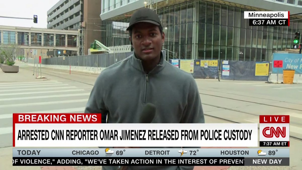 Watch: @OmarJimenez's account of his arrest this morning