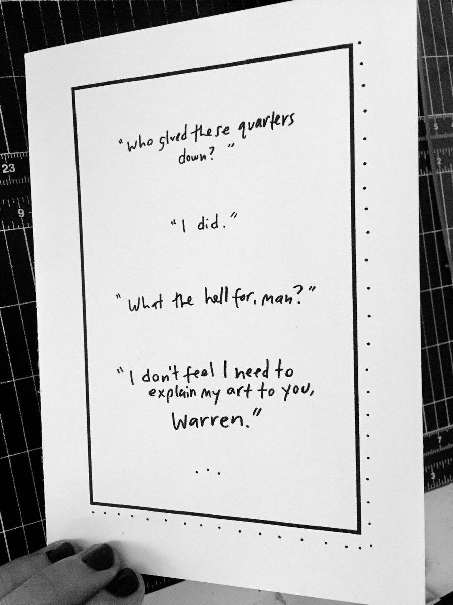 "Thanks for the kind words! ★★★★★ ""amazing card and great quality!"" Nicole C. https://etsy.me/3dh2C75 #etsy #boyfriendbdaycard #boyfriendartist #artistbirthdaycard #empirerecordsart #90smovies #90s #savetheempire #damntheman #empirerecordspic.twitter.com/dF5yVfwJYO"