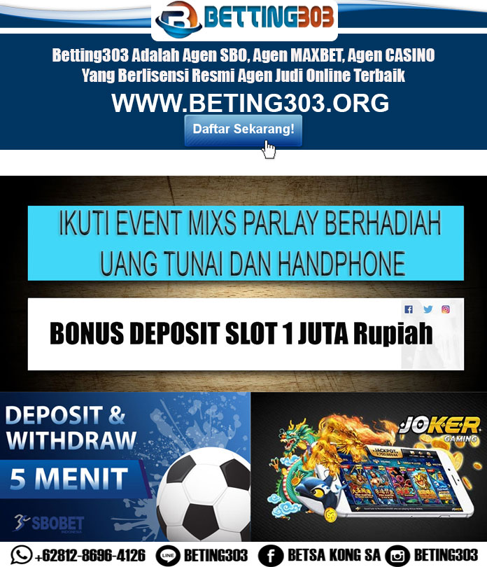 #betting303  #agenbolaterpercaya   #agenbolano1indonesia  #agenjudibola  #agenjudionline  #agenjuditerbaik #betting303 #isinpoker #aoscash #hasilligaitalia #hasilligainggris pic.twitter.com/7OxYS7sWK2