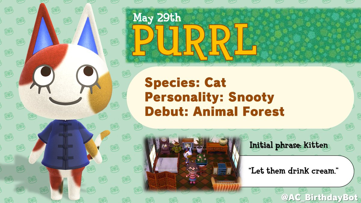 Today, May 29th, is Purrls birthday!