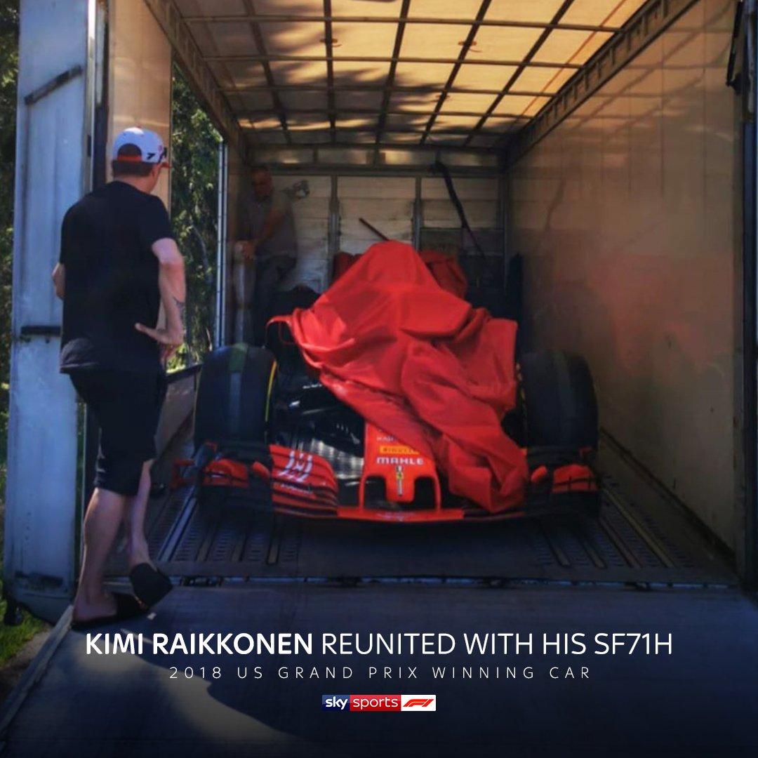 Ferrari have reunited Kimi Raikkonen with his 2018 US Grand Prix winning SF71H 🏆  #SkyF1   #F1   @ScuderiaFerrari https://t.co/eAqVcDrm3D