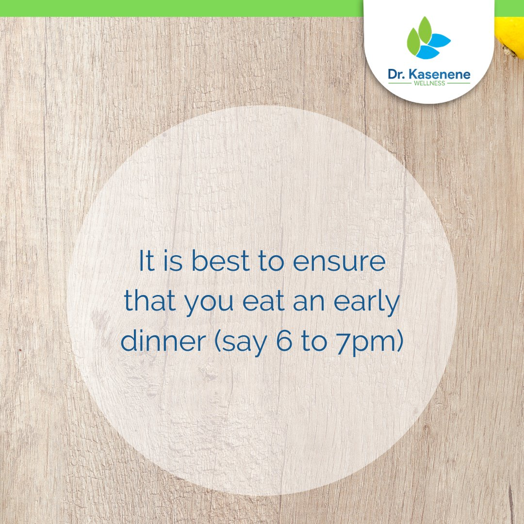 Because the body heals and detoxifies at night and also on an empty stomach, for the best chance to have a long and healthy life, it is best to ensure that you eat an early dinner (say 6 to 7pm) and then eat nothing else until you go to bed which should ideally be by 10pm. #sleep pic.twitter.com/1u7SIHOMsP