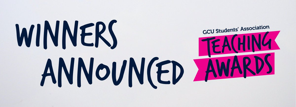 Congratulations to all the winners and nominees and a big thank you to everyone who took some time out to nominate someone for a Teaching Award 2020. GCUstudents.co.uk/articles/teach… @GCU_StudentLife @CaledonianNews @GCU_GSBS @GCUSHLS @GCU_SEBE @GCULondon