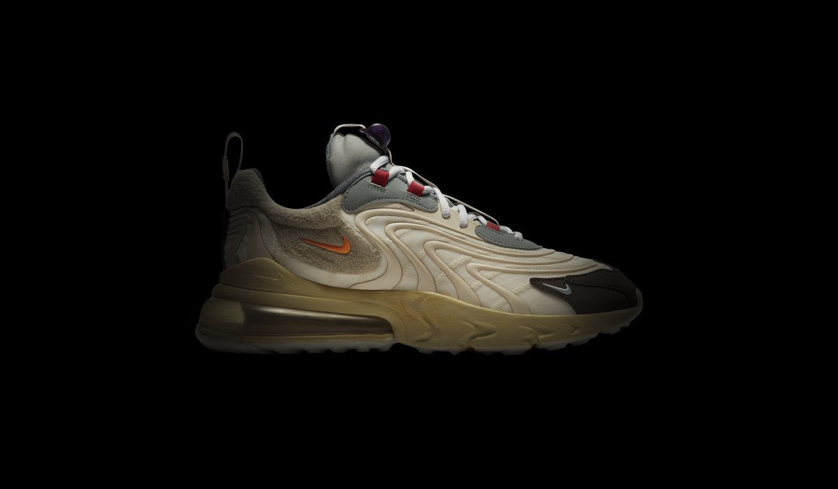 Travis Scott continues his collaborations with Nike, this time working on the Air Max 270 'Cactus Trails.' Melding a 90s aesthetic with a worn-in look, the muted color palette works with the mix of materials across the shoe. Available on the app: https://t.co/MR8xGgolNb https://t.co/FgQK1PkmMH