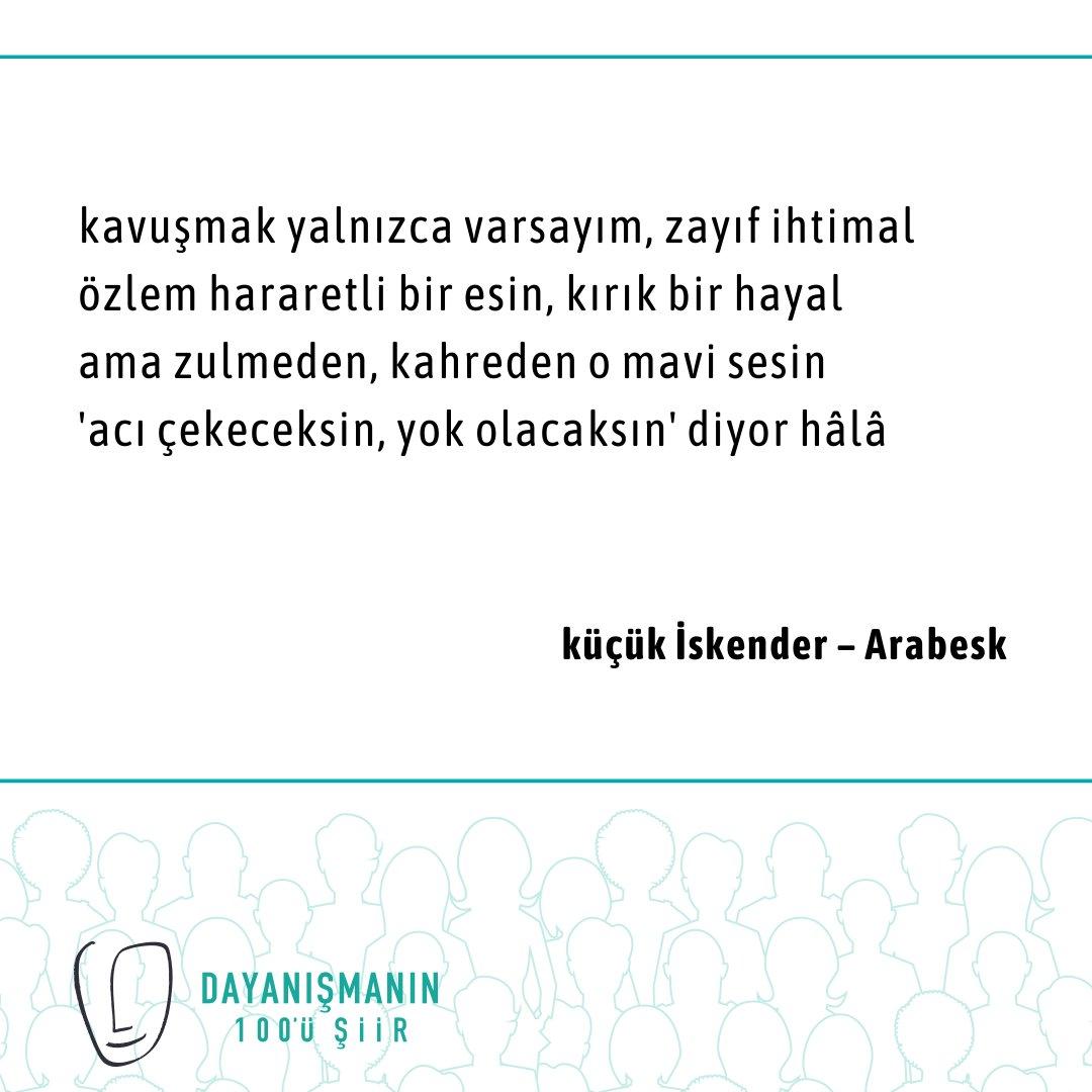 """Tiyatro emekçilerine destek olmak amacıyla Nurgül Yeşilçay, küçük İskender'in """"Arabesk"""" şiirini söyledi.  Şiiri dinlemek için Bio'daki linke tıklayın!  #dayanismanin100üsiir #tiyatro #siir #sahne #destekol #dayanisma #emek #emekçi #sahnearkası #sanat #sanatlavarız #oyuncu #destek"""