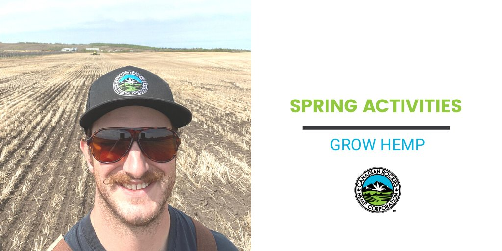 Head Agronomist Cam snapped this selfie out by Smoky Lake, seeding #hemp & showing off his #moustache! Interested in growing hemp this year? Hemp is a late seed crop which means you still have time to get this #crop in the ground! https://buff.ly/3f6jE9u pic.twitter.com/RRrM2sQjg2