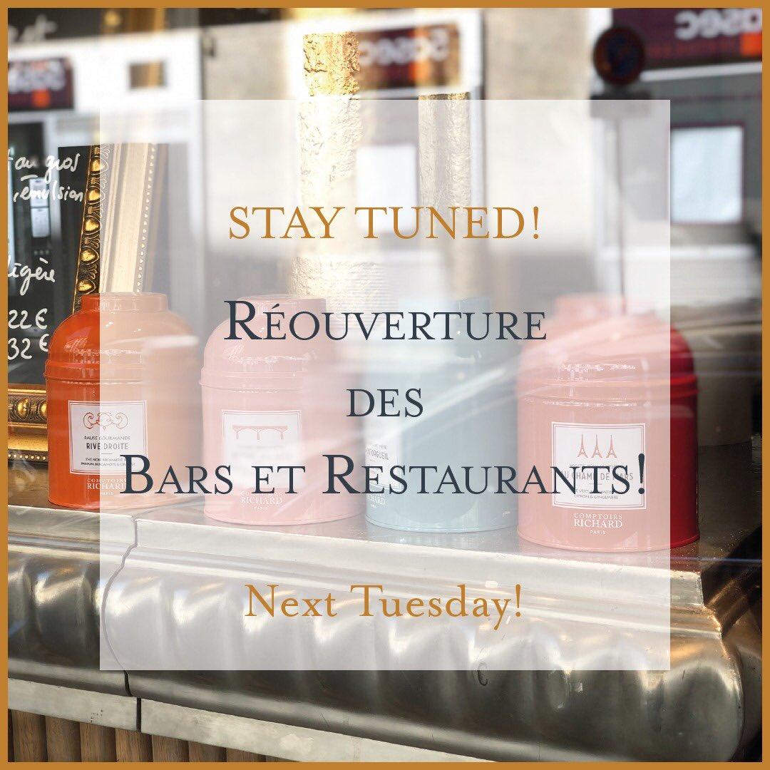 À ne pas manquer !  Nous publions la semaine prochaine un article sur la future réouverture des bars et restaurants à Paris, à partir de Mardi 2 Juin !   #gastronomy #gastronomie #restaurant #bar #restaurantparis #parisfoodie #paris_focus_on #parismavillepic.twitter.com/oCyF8HUJES