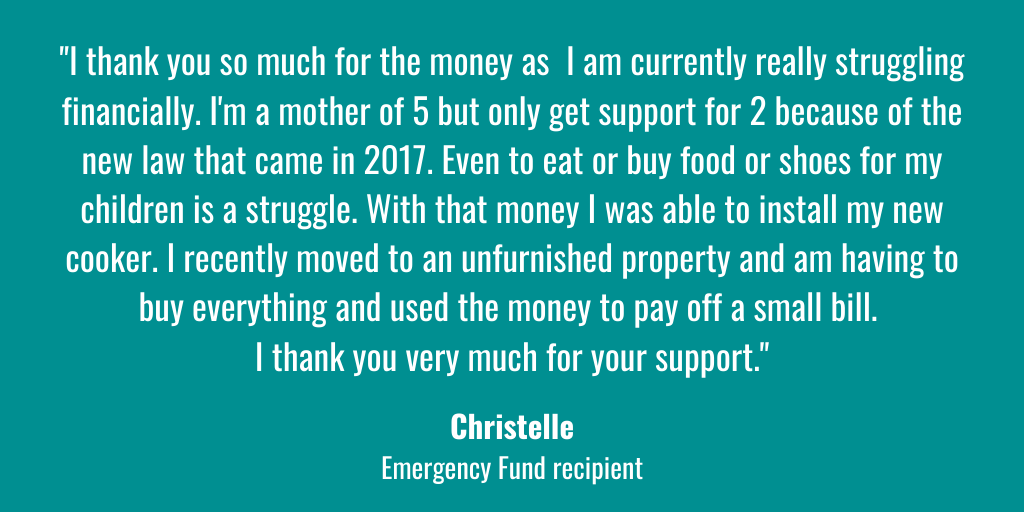💞 | With the help of our amazing supporters we've been providing relief payments to help young women facing financial crisis. Thank you ❤️  If you can help us to help more young women like Christelle, please support our Emergency Fund >>> https://t.co/43VhYgd2o1 https://t.co/zm9RkOXPVm