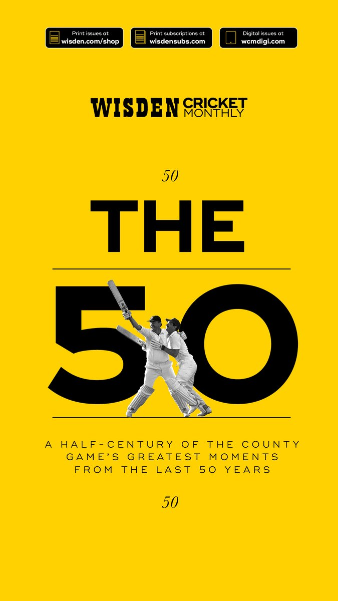 The latest @WisdenCricket masterwork, the kind of magazine that stays home and listens to the science wisden.com/stories/magazi…