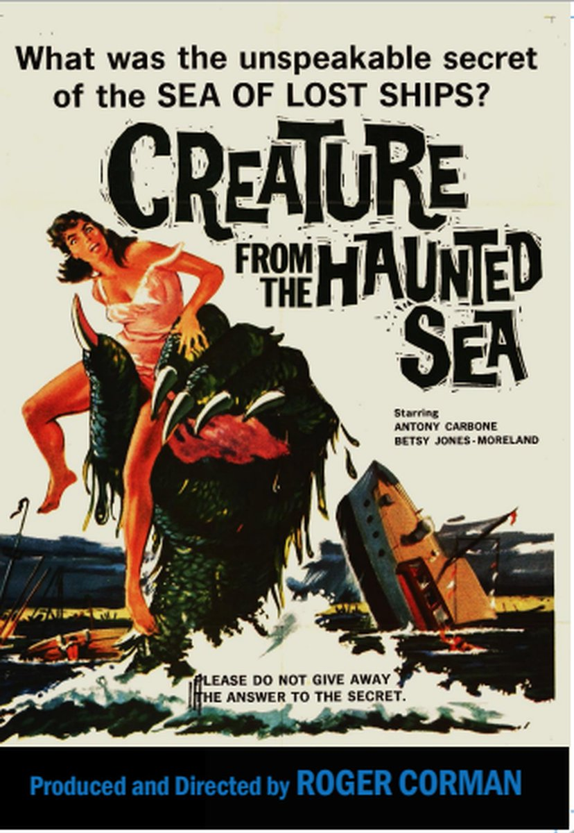 CREATURE FROM THE HAUNTED SEA (1961) by Roger Corman #horror #comedy #posterpic.twitter.com/jBh7c1A7kB
