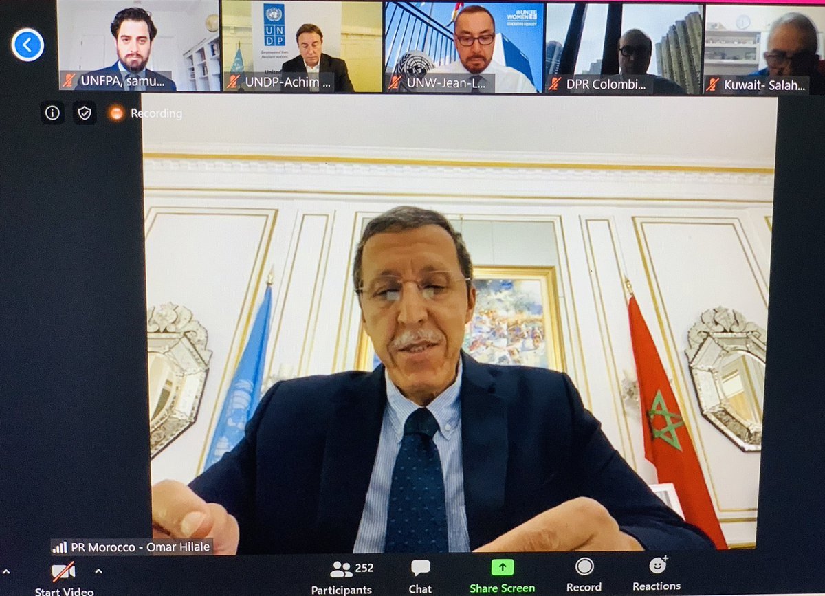 "Ambassador #Omar_Hilale, on behalf of the #African Members of @UNICEF_Board:  ""We welcome the #partnership and #collaboration between the #UN_agencies,& with #partners, including the #NGO consortia, in the framework of a Global Humanitarian #Response Plan to #COVID19.pic.twitter.com/ZW6BUz6d1x"
