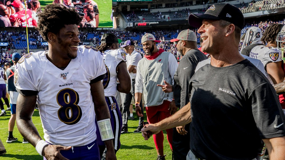 John Harbaugh dishes on the next steps for the Ravens offense, dealing with high expectations and more. 📰: rvns.co/agu