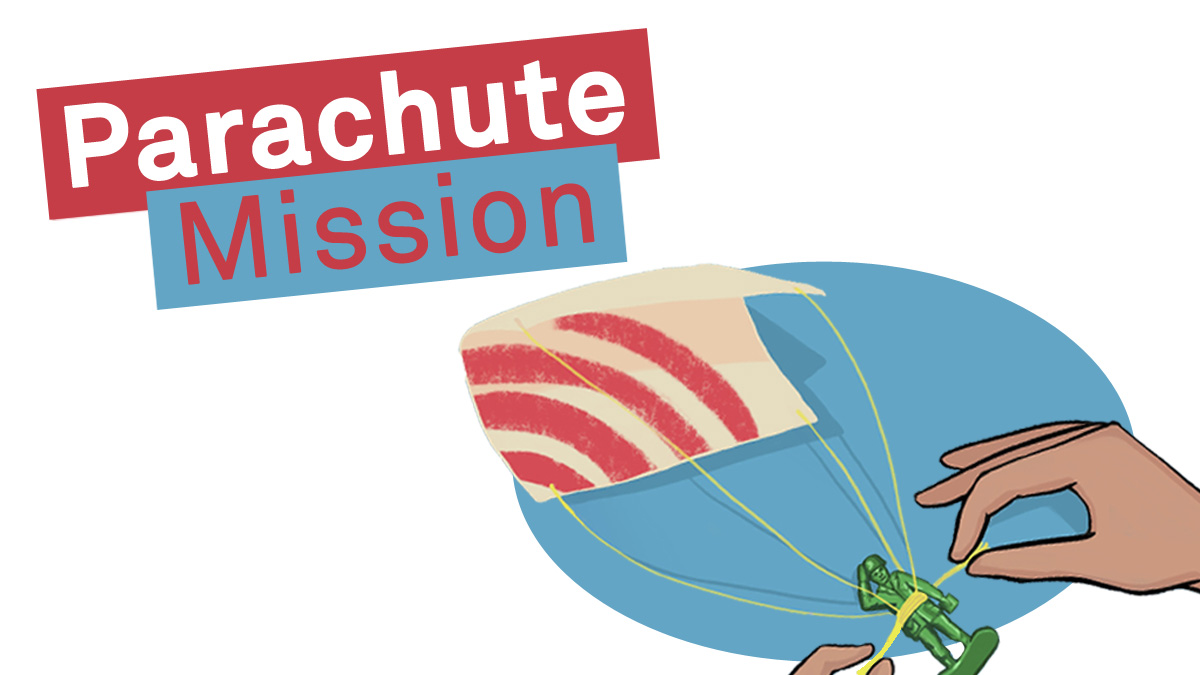 Parents: your kids weekend challenge is Parachute Mission! Design and make a mini-parachute at home. What material, shape and design works best? 🪂 Instructions here: bit.ly/2XfwdrY Design a drop target & share your best parachute drops with us @NAM_London