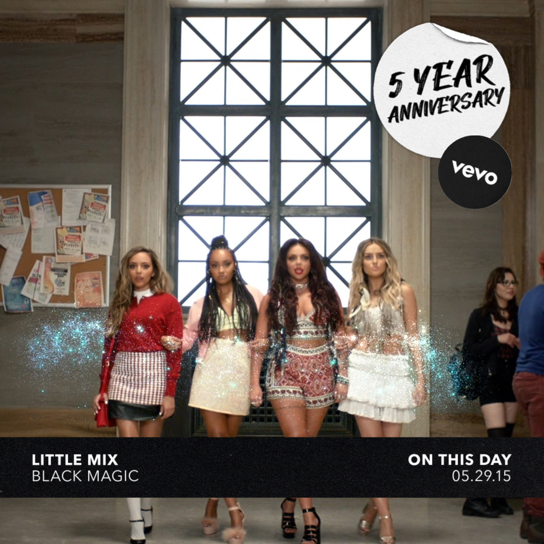"5 years ago today, @LittleMix charmed us with ""Black Magic"" and we had no choice but to fall in love 💗 Watch the ladies work their spells on today's anny 🔮 ⠀⠀⠀⠀⠀⠀⠀⠀⠀ ▶️ https://t.co/mopyD0cPDu https://t.co/MiN29MegGa"