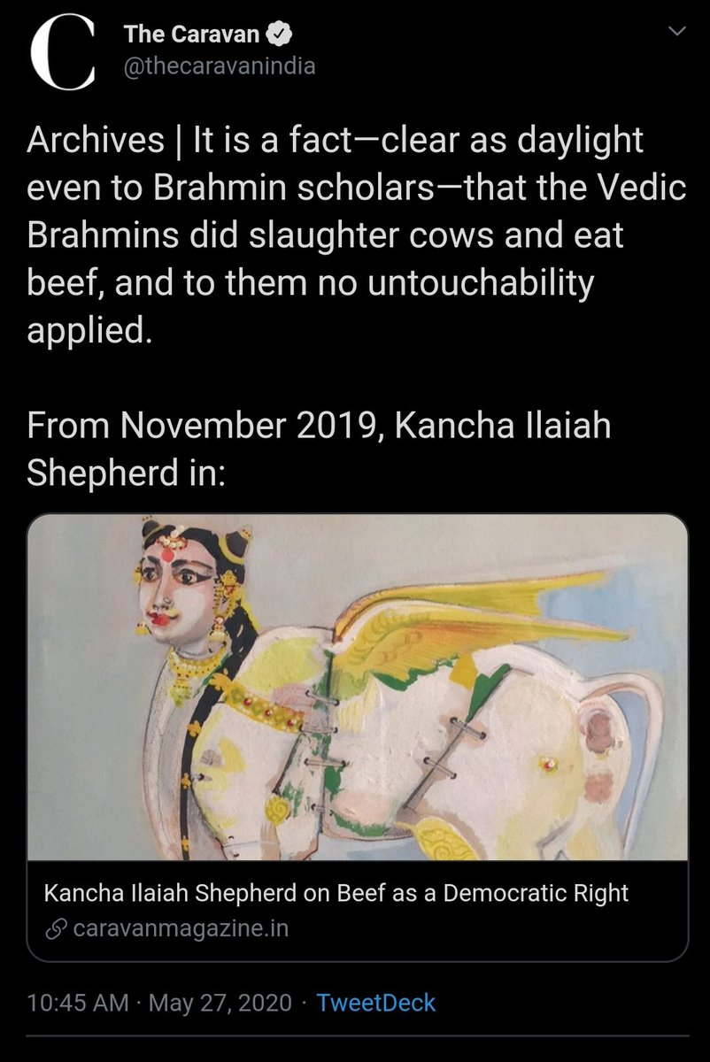 Brahmins used to eat Beef? (A refutation of an article by The Caravan)(Thread)