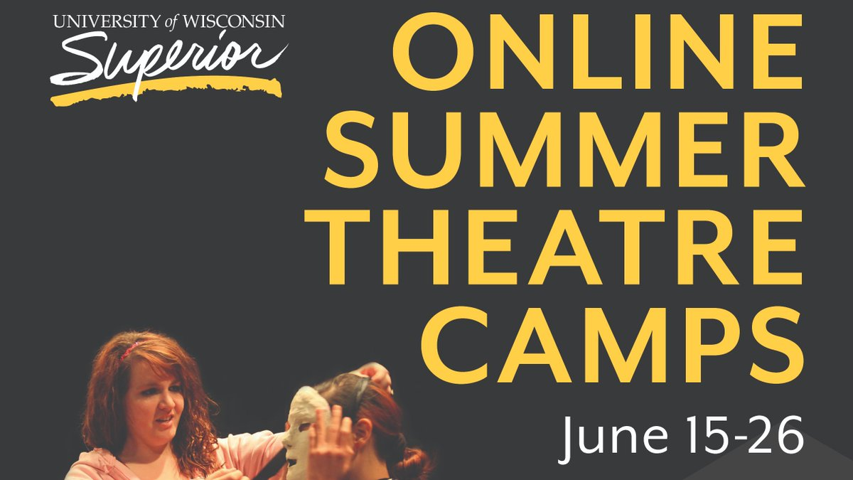 UW-Superior offers a summer program for ages 11-18 who love the art of theatre and want to expand their knowledge and skills. This year, the program moves online! https://t.co/S0gJYoKCyp https://t.co/DNFv0EYrpd