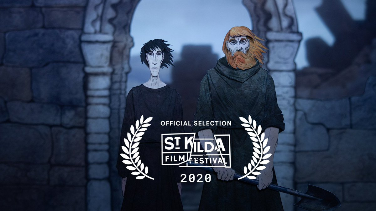 Happy to announce that our short stopmotion animation, The Grave Of St Oran, was accepted into the St Kilda Film Festival!  https://www. stkildafilmfestival.com.au/sessions/austr alia-s-top-100-australian-animation-explosion-presented-by-indomie  … <br>http://pic.twitter.com/E9dqrS929T