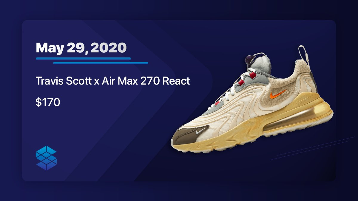 Will you be testing your luck today with the Travis Scott x Nike Air Max 270? pic.twitter.com/5sBEFA3dFX
