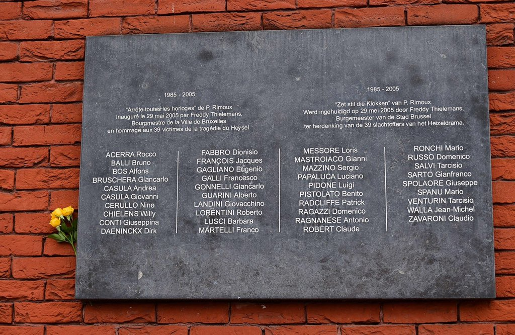 Remembering the 39 fans who sadly passed away in the Heysel disaster on this day in 1985