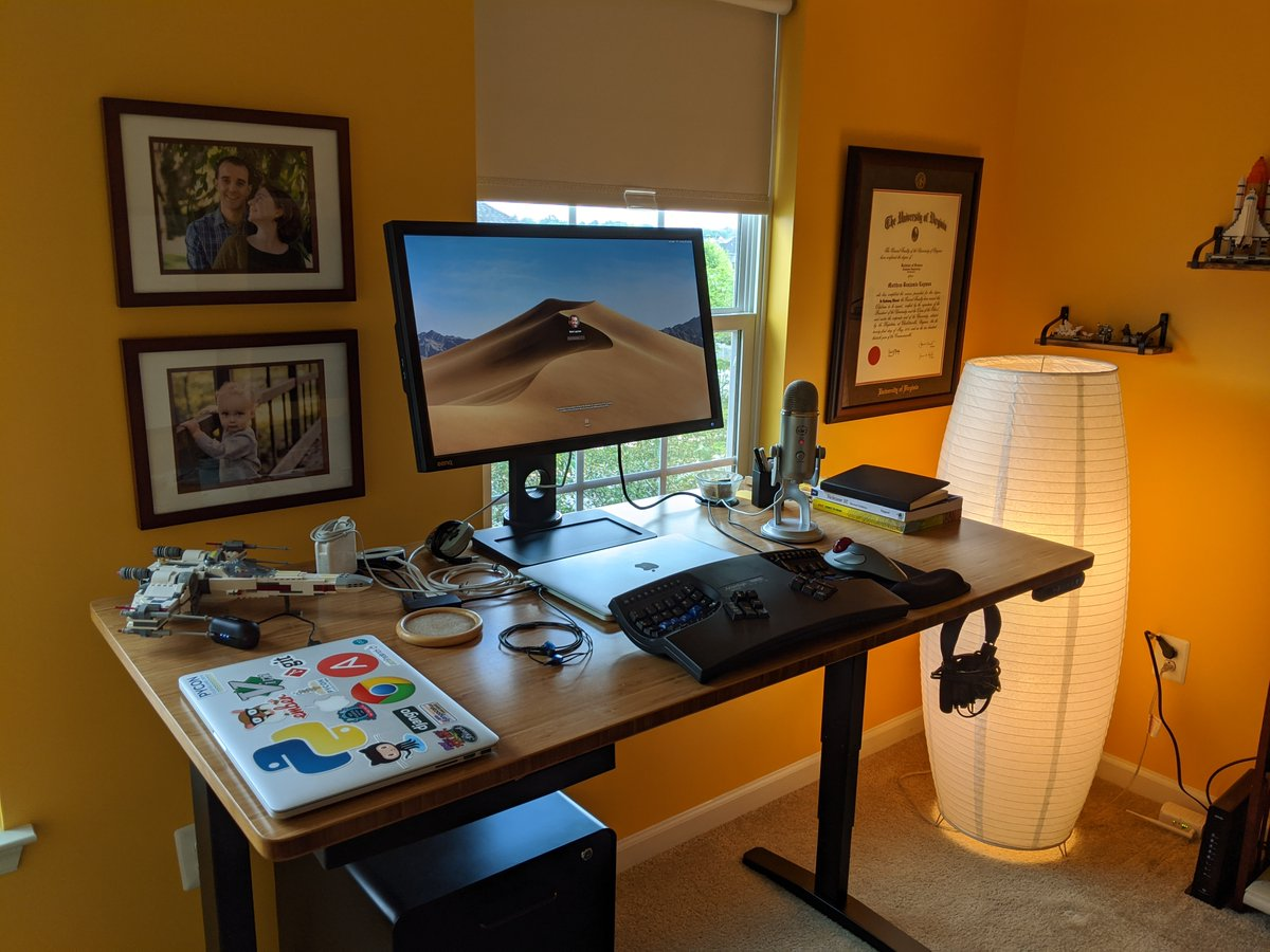 Heres my WFH setup to add to the mix. Its been fun to see how everyone approaches their own setup. @webology