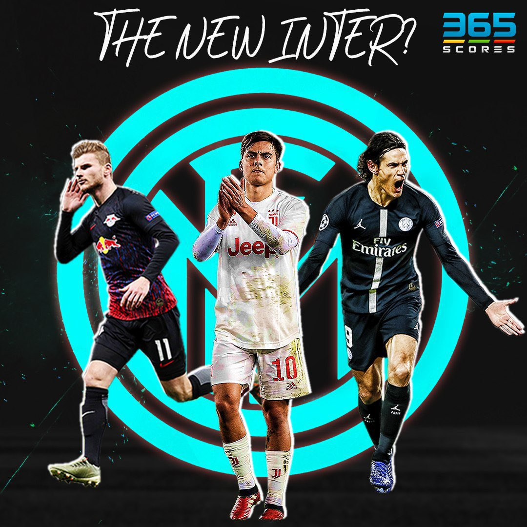 The 'new' #Inter?  Reports claim that the #Nerazzuri look to boost their squad when they cash-in on #Lautaro #Martinez.   #Cavani, #Werner and a dream move for Paulo #Dybala are in the rumor mill.   #InterMilan #TransferTalk #365Scorespic.twitter.com/N9cFjiANGl