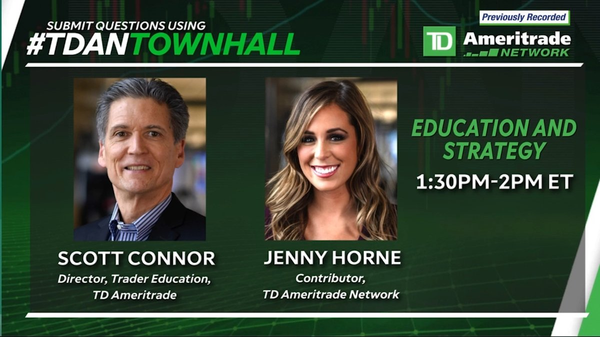 Jenny and I are looking forward to seeing you tomorrow, May 30th, on our special TD Ameritrade Network Townhall event. Remember to submit your questions and see you then! https://t.co/KOR5kp2CV5