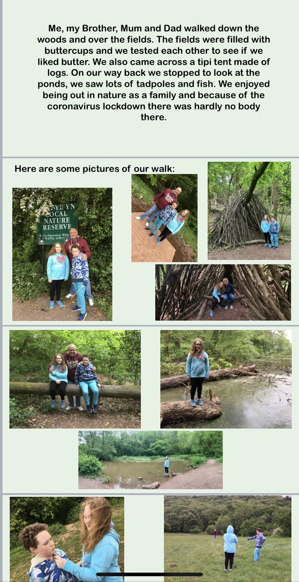 Lovely to hear from Lucy @NhsYear8 who completed a walk with her family for the 1k to 10k challenge and then wrote about it in a PowerPoint. Da Iawn!!! Lovely to get out and explore during lockdown #keepfitstayfitmindfit #familytime #challengepic.twitter.com/hUUc0BMQzH