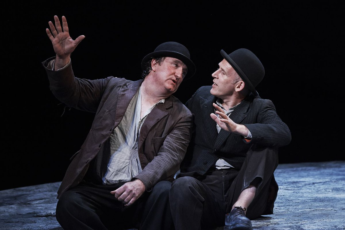"Our friends at @garestlazare have made the 2013 production of Waiting for Godot, filmed at the Paramount Center, available to stream!   In their review, the @BostonGlobe said ""the stark beauty of the language sings."" Press play to watch it sing again:"