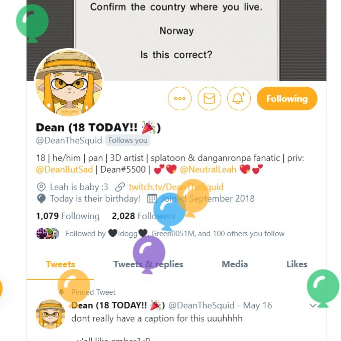 Replying to @dab17_inkling: 🥳Happy Birthday to @DeanTheSquid & @TomLegend101!!🥳