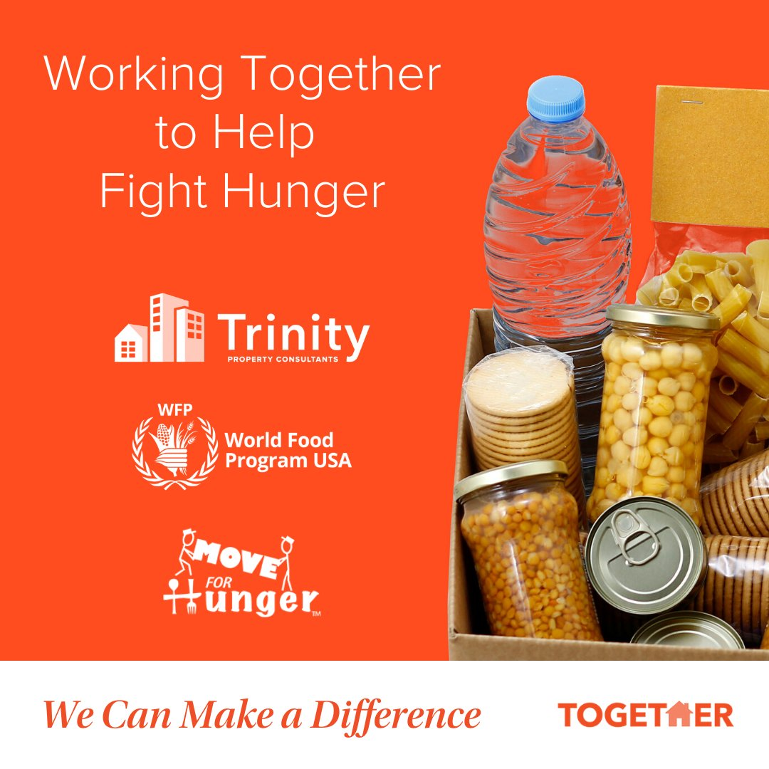 We are proud to partner with @WFPUSA & @MoveForHunger to help fight hunger in communities and across the globe. As a company, we are committed to matching 100% of all resident donations: https://www.trinity-pm.com/together.  #TrinityStrong #TogetherWeCan pic.twitter.com/l0b8S1cjii