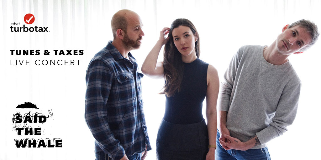This Sunday, join us with Juno-award winning band @saidthewhale for a LIVE concert at 8pm EST. To celebrate the end of tax season, use this time to relax 🍷, enjoy the tunes 🎶, or ask tax questions with our tax experts in the live ✅! #TurboTaxTogether https://t.co/VBRKT6InKl https://t.co/uu7Eq47x4X
