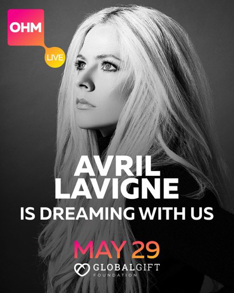Honored to be taking part in One Humanity Live! to raise funds for COVID relief efforts w/ Global Gift Foundation & more.. Catch my #WeAreWarriors performance btwn 12-3pm EST today  to watch. #DreamWithUs #OHMLive #Dream4Humanity #TheAvrilLavigneFoundation