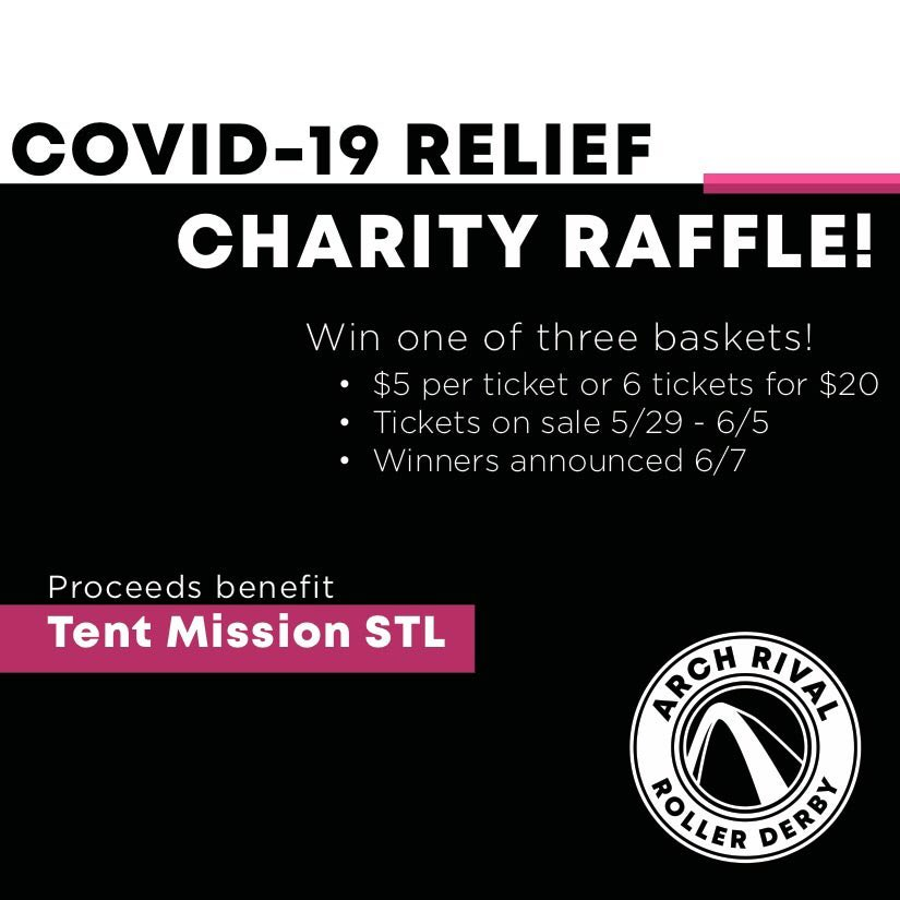 FUNDRAISER: We are raffling off 3 amazing Arch Rival merch baskets to support Tent Mission STL - a team of volunteers helping to provide resources for the unhoused in St. Louis during the Covid-19 pandemic. Buy your tickets here: https://t.co/u0gMvxFI1v   #stl #derbytwitter https://t.co/ICRDtx8xJN