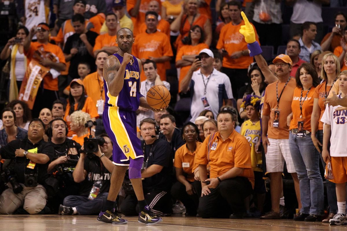 OTD in 2010: Lakers defeat the Phoenix Suns to advance to their 3rd consecutive NBA Finals.  Kobe Bryant:  35 Points 6 Rebounds 10 Assists  60% FG% (12-20) 50% 3PT FG% (2-4) 100% FT% (9-9) https://t.co/HitAr9XR0j