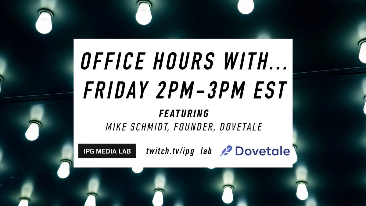Today at 2pm ET on https://t.co/7vWpLBPRHe, we are going live with @mikeschmidt from influencer marketing platform @dovetale! Don't miss it! https://t.co/rFCSbjFlT9