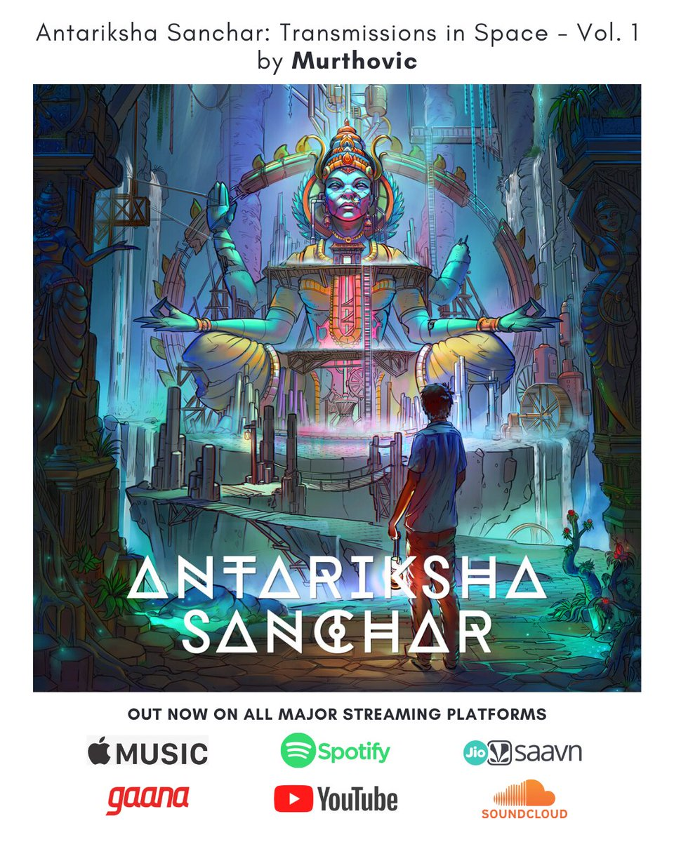 •  OUT NOW • @Murthovic & his Carnatic ensemble release their first album - 'Transmissions in Space' (Vol. 01) which is based on the #AntarikshaSanchar dance opera pres. by @redbullindia 🛰  📢 Listen / Buy : https://t.co/eQm4e8TqhD https://t.co/2d1ZnHv2Sr