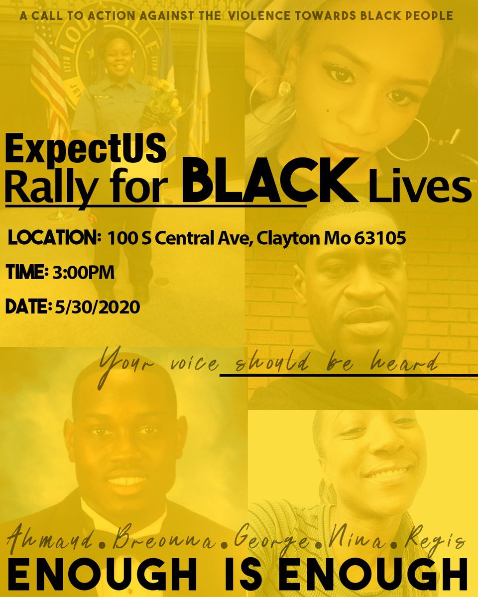 Tomorrow 3pm! Rally For Black Lives! 100 S Central Ave! #ExpectUs