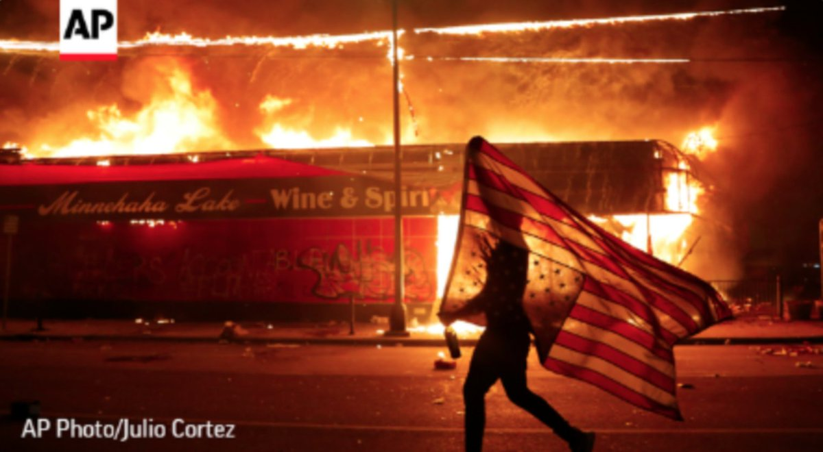 Ugly systemic racism has set an American city ablaze  100k Americans are dead as a virus surges in states that reopened at the White House's urging  1 out of every 4 American workers have lost their jobs  Trump's America is collapsing  Enough is enough https://t.co/tqOCgnE7Gu