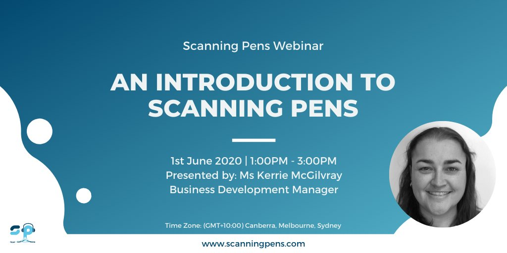 "FREE Webinar | ""Introduction to Scanning Pens""  Discover more about us, our products, and what we're all about in this webinar on 1st June from 1pm (GMT+10:00).   Register now > https://scanningpens.clickmeeting.com/introduction-to-scanning-pens12/register … #AssistiveTechnology #WorkFromHome #Australiapic.twitter.com/hpOy5RAtUn"