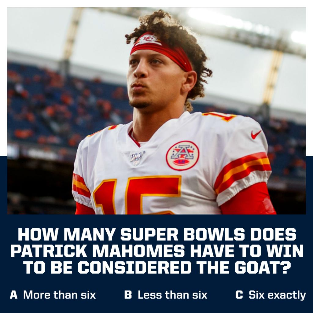 """What would Patrick Mahomes have to do for you to consider him the GOAT?  @foxworth24 says """"win three Super Bowls."""" https://t.co/KwggEUK7V9"""