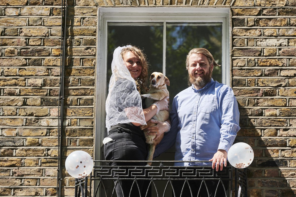 Over 60,000 couples have had their dream weddings dashed by Covid-19, but @fredsirieix1 gives one couple, Patrick and Louise, a surprise chance to get hitched in an audacious virtual celebration in #HitchedatHome on @Channel4 at 9pm