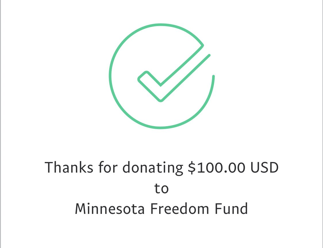 The Minnesota Freedom Fund is a community based nonprofit that works against the harmful effects of incarceration. Their funds are helping to pay bail for protestors arrested in #GeorgeFloyd resistance. We just donated $100. Can you match our donation? minnesotafreedomfund.org/donate